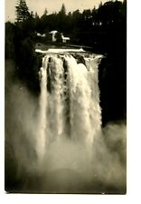 Snoqualmie Falls Scenic Water View-Washington-RPPC-Vintage Real Photo Postcard