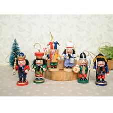 Set 6x Schiaccianoci Soldato in Legno Da Collazione Regalo Feste Natale