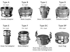 Stainless Steel 316 Camlock Hose Fittings Adapter MPT SS316