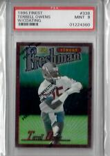 TERRELL OWENS 1996 TOPPS FINEST ROOKIE CARD PSA 9 TO 49ERS W/ COATING QTY AVAIL