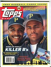 Topps Magazine Spring 1991 Barry Bonds EX w/Mint Cards 042117nonjhe