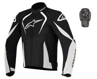 Alpinestars T-Jaws WP White/Black Waterproof Textile Jacket optional back insert