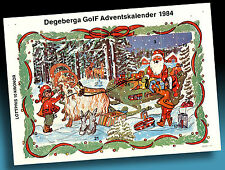 SCHÖNER ALTER ADVENTSKALENDER 1984 > NIKOLAUS MIT SCHLITTEN > GOLF WERBUNG > 3