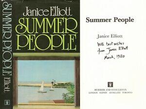 Janice Elliott - Summer People - Signed & Dated - 1st/1st (1980 First Ed DJ)