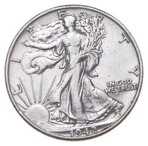Better 1942-D - US Walking Liberty 90% Silver Half Dollar Coin Set Break *271