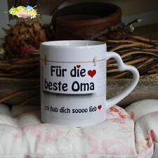 Tasse / Für die beste Oma / Geschenk Muttertag Weihnachten Valentinstag