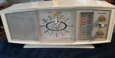 Sears Silvertone Solid State Clock Radio Model 2087 Off white