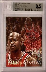 1996-97 Flair Showcase Michael Jordan Row 0 BGS 8.5 Chicago Bulls GOAT HOF RARE