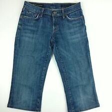 Womens Citizens Of Humanity Kelly Stretch Low Rise Blue Denim Capris Size 28
