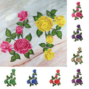 1x DIY Flower Patch Embroidered Applique Embroidery Patch Cloth Sticker Garment