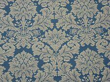 Fabricut Fabriana Azure Classic Navy Woven Damask Upholstery Weight