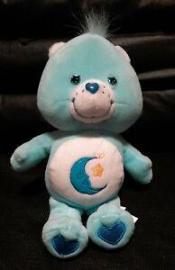 "Bedtime Bear 9"" Plush Stuffed Care Bears 2002  Bean Bag"