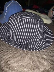 NWT Men's Sample KANGOL Tweed Pinstripe Gaffer Trilby Hat Sz L Grey From 2005