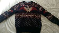 Polo Ralph Lauren Eagle Aztec Sweater Jumper size L Navajo Lo Knit bear stadium