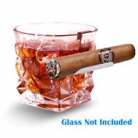 Whiskey Glass Cigar Holder Creative Stainless Steel Cigar Rack Wine Cigar Stand