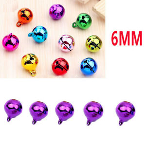 5Pcs 6mm universal Automotive Interior Pendants Metal Jingle Bells purple 927777