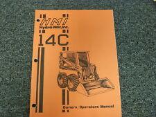 Hmi Hydramac Model 14c Skid Steer Loader Owner Operator Maintenance Manual Book