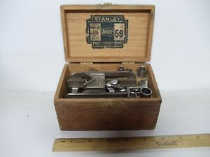 ANTIQUE STANLEY DOWELING JIG NO 59 IN ORG. WOOD BOX