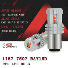 Brightest RED 1157 7507 2057 LED Brake Tail light Bulb 3020-SMD For GMC Jeep D2
