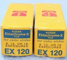 2 Rolls KODAK EKTACHROME-X EX 120 COLOR SLIDE FILM EXPIRED 11-1973 New Old Stock