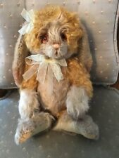 "Charlie Bears PEACHES 2019 Isabelle Mohair Collection 11"" Rabbit FREE US SHIP"