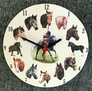 Horse Lovers Clock - Horse Clock - Horse Gifts - Racehorse Clock - HO25-C