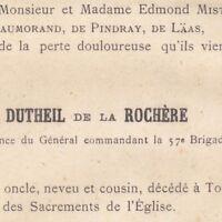 Paul Marie Joseph Dutheil De La Rochère Toulon 1883