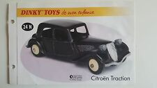 Dinky Toys Atlas - Fascicule SEUL de la Citroën Traction (Booklet only)