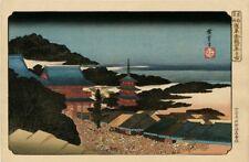 """Véritable Estampe Japonaise De Hiroshige """"La Foule À La Foire De Fin D'Année..."""""""