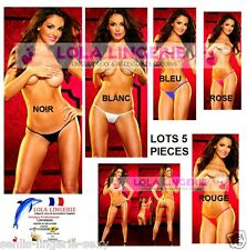 Lots 1 à 5 Micro String Ficelle Ultra Sexy Lingerie Coquine Sensuel Thong S M L