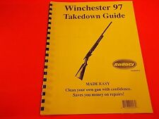 TAKEDOWN MANUAL GUIDE WINCHESTER MODEL 97 Pump Shotgun, illustrated, ten pages