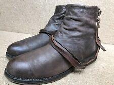 A.S.98 Italian Leather Gray Boho Biker Boots Sz EUR 41 | US 9.5-10 | UK 8