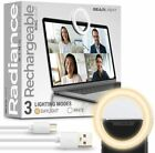 Radiance Selfie Ring Light for iPhone, Laptop, Zoom, Video Conferencing
