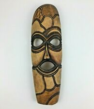 """African Tribal Mask Face Native Hand Carved Wood 15""""X 5"""""""