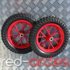 RED 47cc 49cc MINI MOTO DIRT BIKE WHEELS SET WITH TYRES (12.5 x 2.75 MINIMOTO)