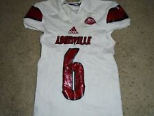 Louisville Cardinals Football Shaq Wiggins Game used 2016 White Jersey MD