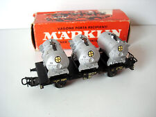 MARKLIN WAGON A PLATEFORME DE LA DB TRANSPORT CUVES BAYER - REF. 4520 - H0 1/87