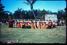 Org Photo Slide 1960 Vietnam Mount Hawaii Lae dancers aloha Show sexy women live