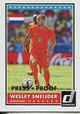 Donruss Soccer 2015 Gold Parallel [99] Var. Base Card #36 Wesley Sneijder
