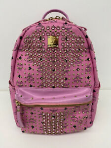 MCM Diamond Studded Backpack (Genuine)