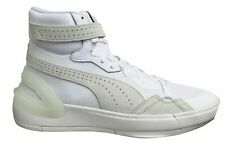 Puma Sky Dream Hi Top White Leather Lace Up Mens Trainers 193675 01