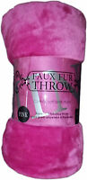 Luxury Pink Soft Mink Faux Fur Throw Blanket Bed Sofa Home Double King