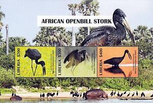 👉 LIBERIA = WILD BIRDS S/S + M/S MNH **