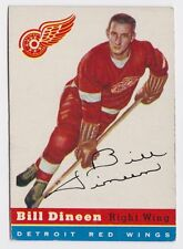 1954 TOPPS BILL DINEEN DETROIT RED WINGS CARD #57 VG/EX CONDITION