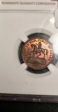 1863 Rare Civil War Token Ngc Ms64Rb 176/271a Washington on Horse Union For Ever
