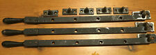 3 Vintage metal Casement Window Stays with fixing plates and holding spikes
