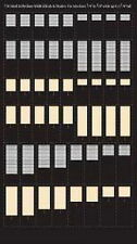 "City Classics-HO Scale -- #710 Small & Medium Blinds and Shades 5/16"" to 3/8"""