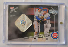 2017 Topps Now Game Used Base Relic #663A Chicago Cubs Clinch NL Central 50/99