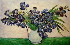 "Van Gogh reproductions Oil Painting - Irises- size 36""x24"" Ready to hang"