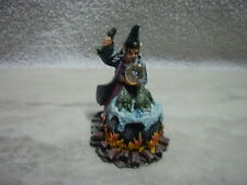 1989 J.S. Resin Wizard With Dragons And Crystal Ball Fantasy Figurine